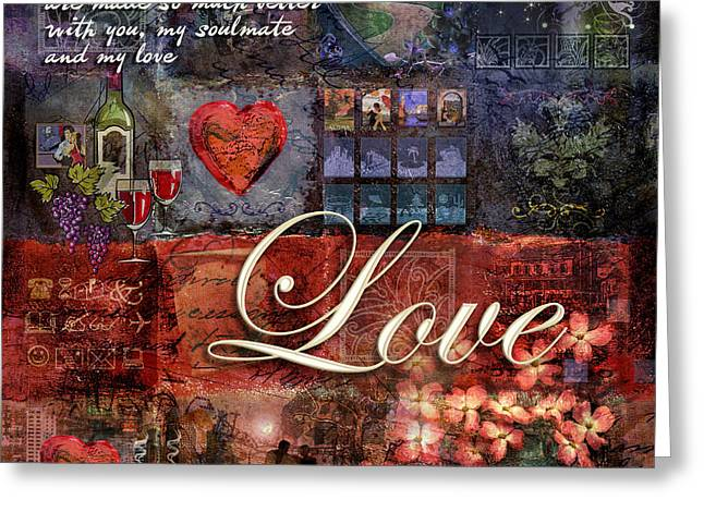 Soul Greeting Cards - Love Greeting Card by Evie Cook