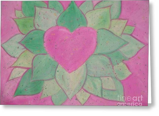Love Flowers Greeting Card by Sacred  Muse
