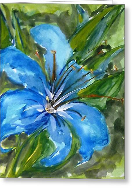 Love Flowerts Greeting Card by Baljit Chadha