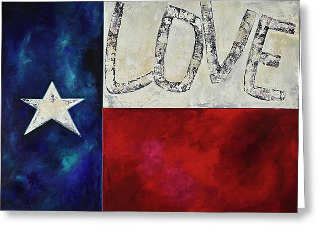 Greeting Card featuring the painting Love For Texas Two by Patti Schermerhorn