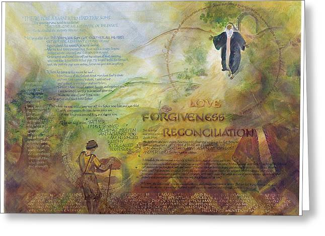 Love Forgiveness Reconciliation Greeting Card by Judy Dodds