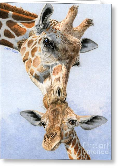 Love From Above Greeting Card by Sarah Batalka