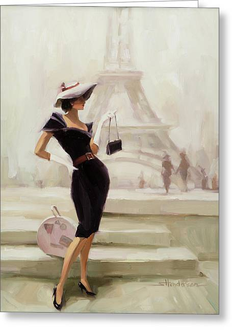Love, From Paris Greeting Card by Steve Henderson