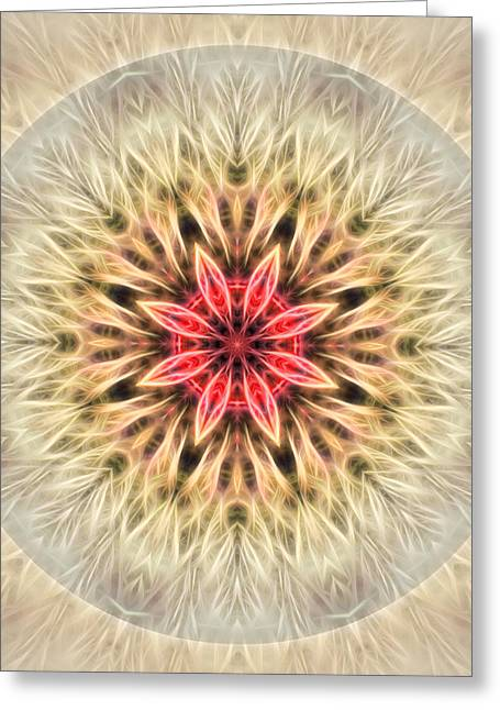 Love From Within Mandala Greeting Card