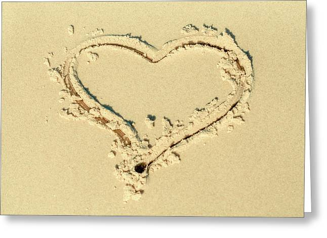 Love Heart In The Sand Greeting Card
