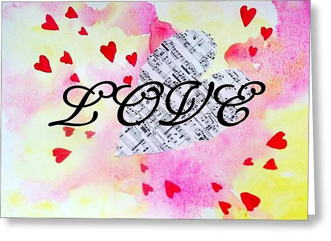 Love Hearts Greeting Card by Vallee Rose