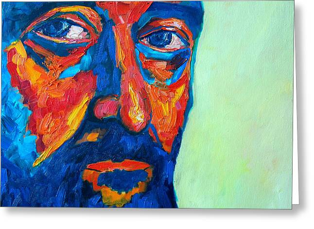 Greeting Card featuring the painting Love Him So Much by Ana Maria Edulescu