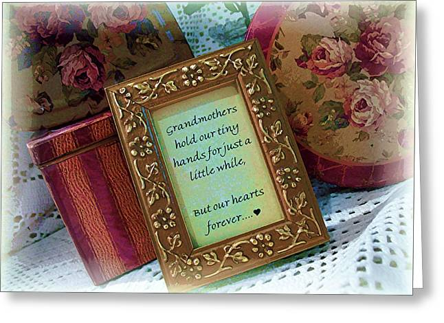 Love Holds Our Hearts Forever Greeting Card