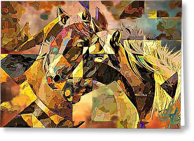 Love Horses Greeting Card by Lynda Payton