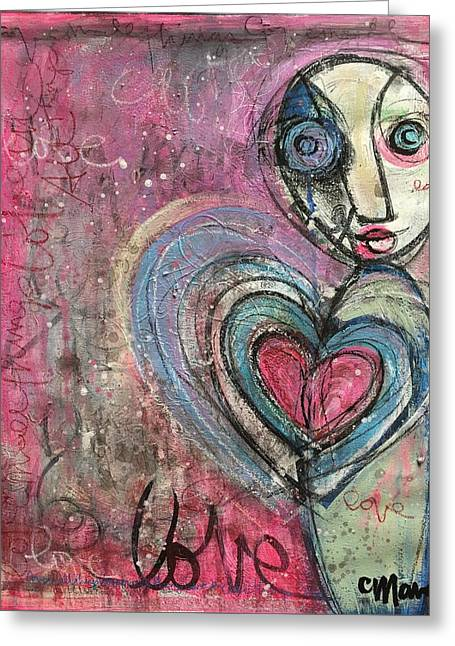 Greeting Card featuring the painting Love In All Things by Laurie Maves ART