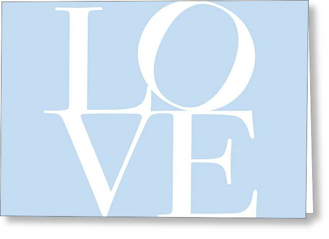 Chic Digital Greeting Cards - Love in Baby Blue Greeting Card by Michael Tompsett