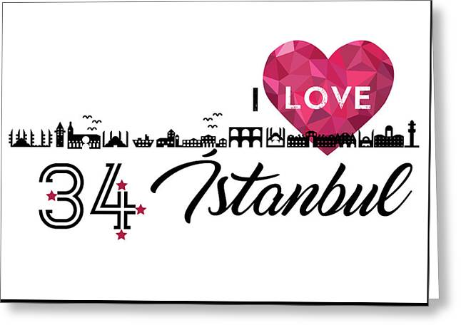 Love In Istanbul Greeting Card by Emre Yaprak