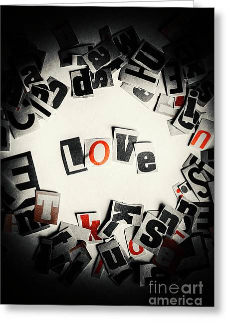 Love In Letters Greeting Card