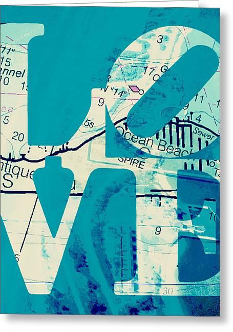 Love In Long Island V7 Greeting Card by Brandi Fitzgerald