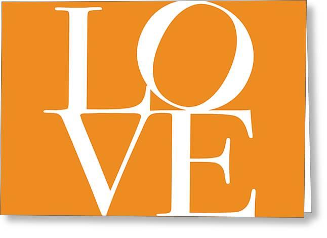 Love In Orange Greeting Card