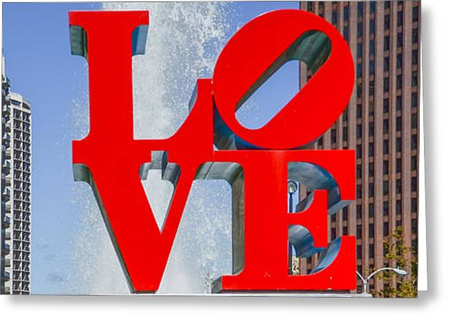 Greeting Card featuring the photograph Love In Philadelphia Pa by Bill Cannon