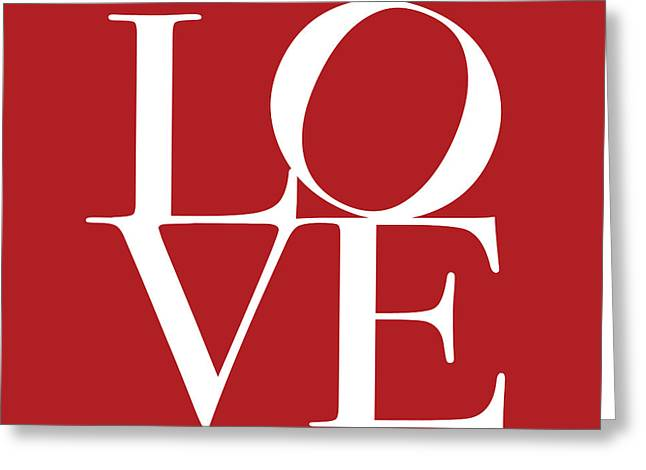 Love In Red Square Greeting Card