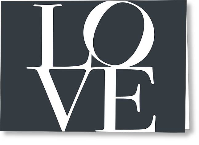 Love In Slate Grey Greeting Card