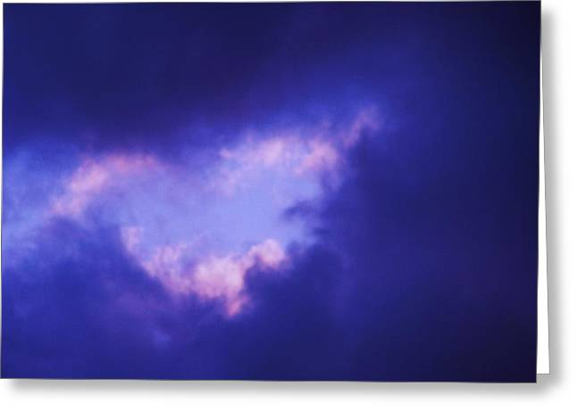 Love In The Sky Greeting Card by Joseph Norvell