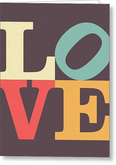 Love In Vintage Greeting Card