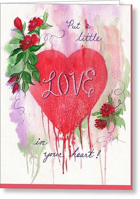 Greeting Card featuring the painting Love In Your Heart by Marilyn Smith