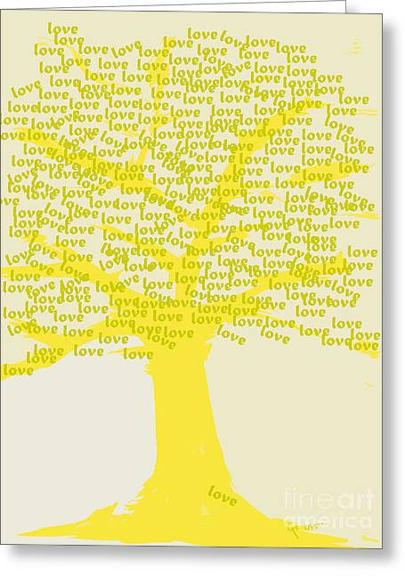 Greeting Card featuring the painting Love Inspiration Tree by Go Van Kampen