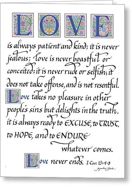 Love Is Always Patient Greeting Card