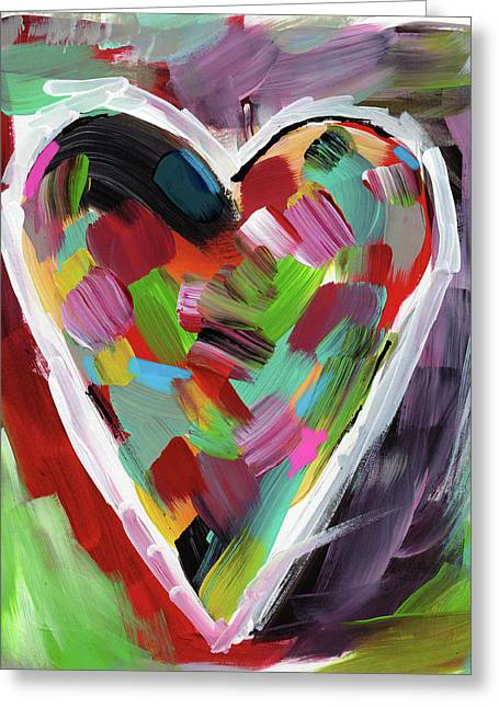 Love Is Colorful 3- Art By Linda Woods Greeting Card