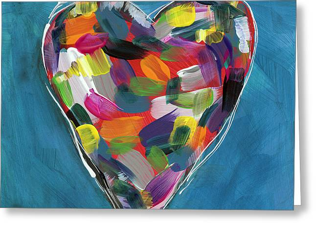 Love Is Colorful In Blue- Art By Linda Woods Greeting Card