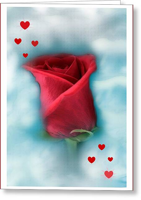 Rose Greeting Cards Greeting Cards - Love is in the air Greeting Card by Linda Sannuti