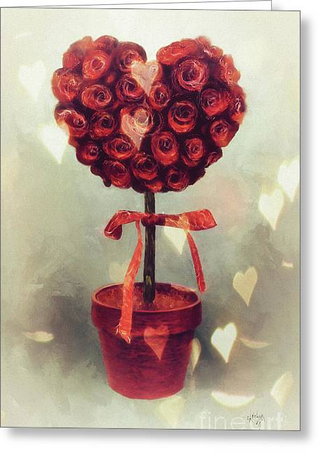Love Is In The Air Greeting Card by Lois Bryan