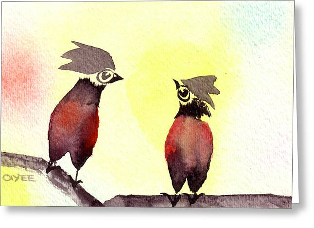 Inkwash Greeting Cards - Love Is In The Air Greeting Card by Oiyee  At Oystudio