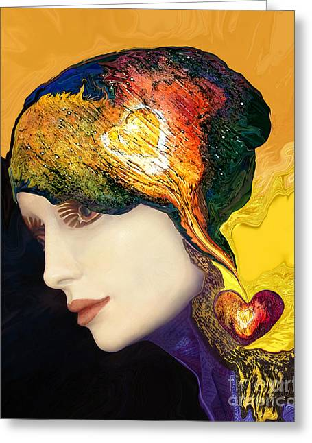 Love Hat Greeting Card by Art by Ela