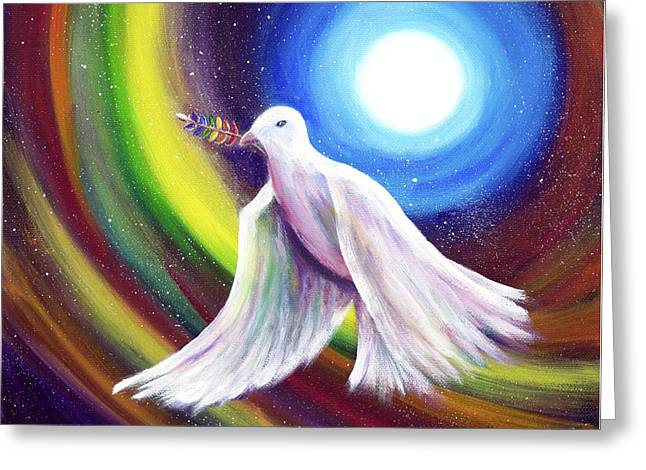 Love Is Love Peace Dove Greeting Card