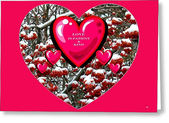 Greeting Card featuring the digital art Love Is Patient And Kind by Will Borden