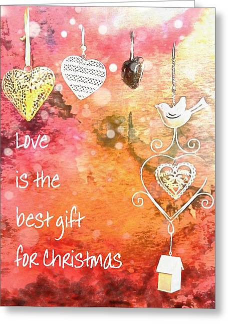 Love Is The Best Gift For Christmas Greeting Card