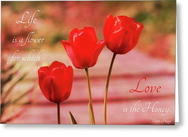 Greeting Card featuring the photograph Love Is The Honey by Trina Ansel
