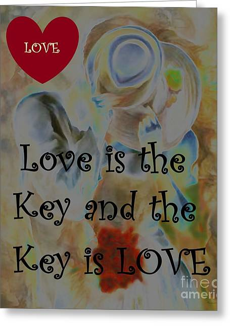 Love Is The Key Greeting Card by Catherine Lott