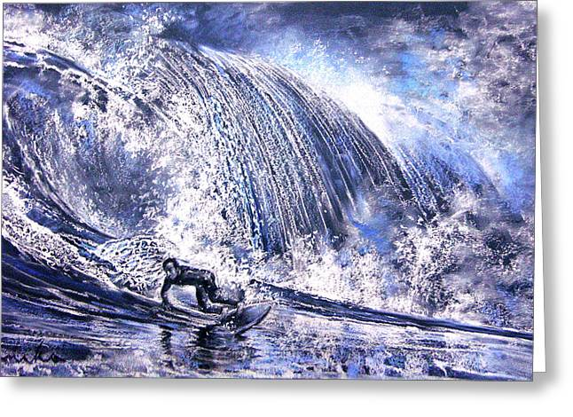 Love Is The Seventh Wave Greeting Card by Miki De Goodaboom