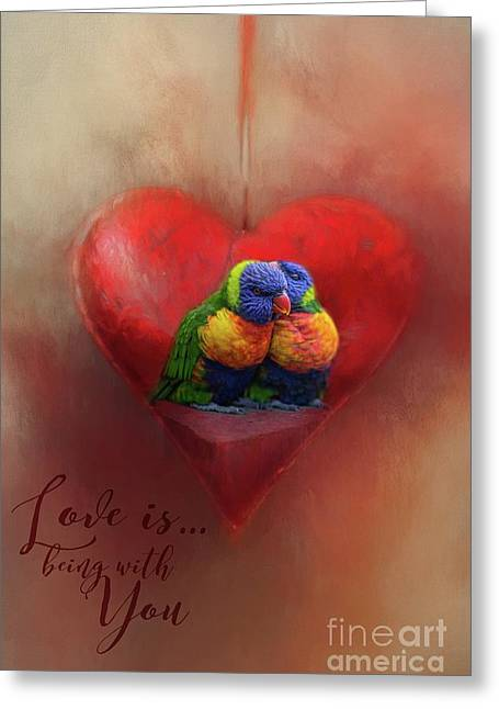 Love Is...being With You Greeting Card