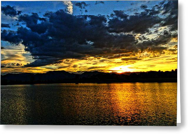 Greeting Card featuring the photograph Love Lake by Eric Dee