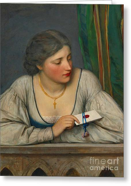 Love Letter 1884 Greeting Card by Padre Art