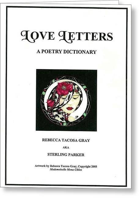 Love Letters A Poetry Dictionary  Greeting Card by Rebecca Tacosa Gray