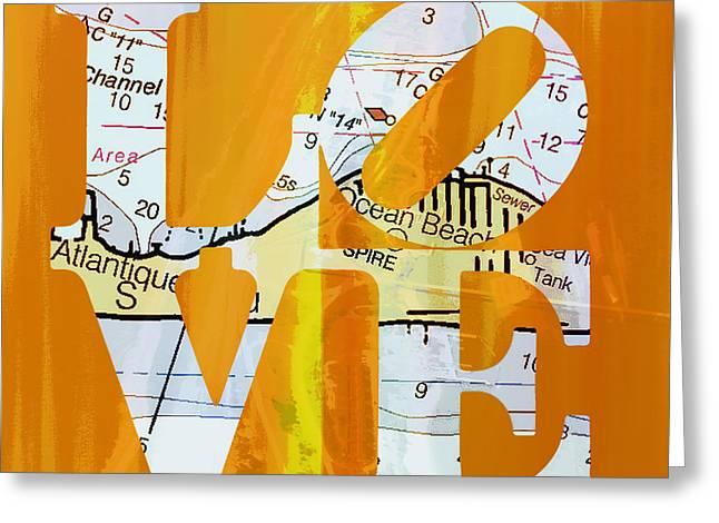 Love Long Island V1 Greeting Card by Brandi Fitzgerald