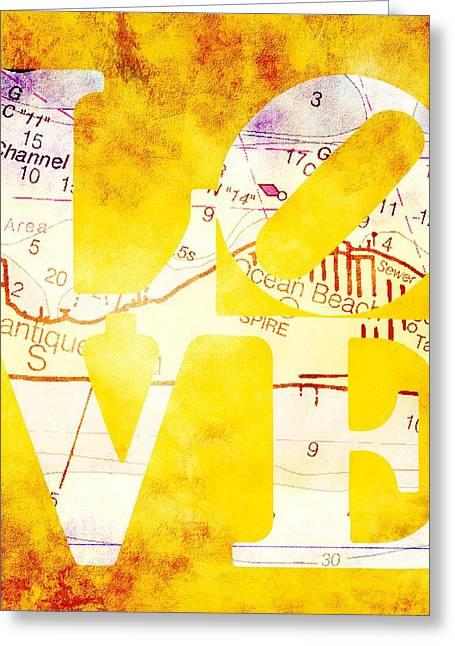 Love Long Island V3 Greeting Card by Brandi Fitzgerald