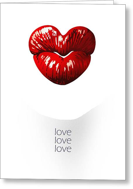 Love Poster Greeting Card