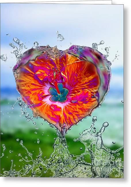 Love Makes A Splash Greeting Card
