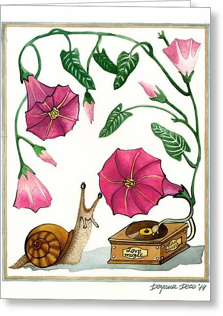 Love Music Greeting Card by Deyana Deco