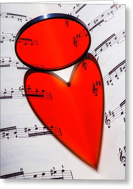 Love Music Greeting Card by Garry Gay
