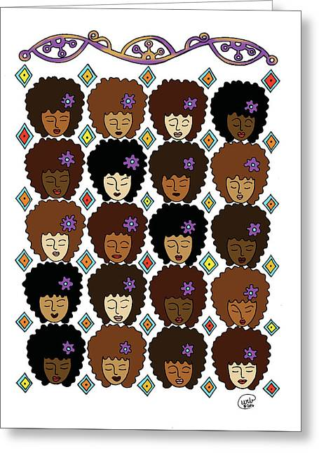 Love My Afro Greeting Card by Unicia Buster